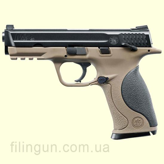 Пневматичний пістолет Smith & Wesson M&P40 TS FDE