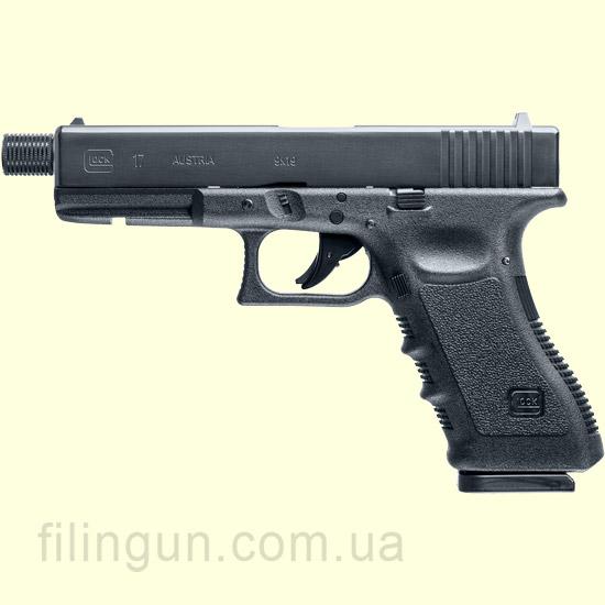 Пістолет пневматичний Umarex GLOCK 17 BB/Pellet під глушник