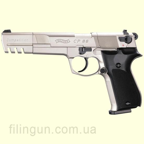 Пневматичний пістолет Walther CP88 Competition Nickel