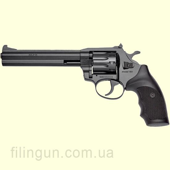 Револьвер под патрон Флобера Alfa мод 461 4 мм ворон/пластик
