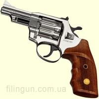 """Револьвер под патрон Флобера Alfa мод 431 3"""" рукоять №2 (никель, дерево)"""
