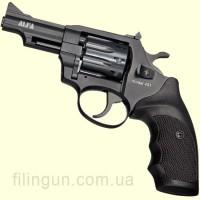 """Револьвер под патрон Флобера Alfa мод 431 3"""" рукоять №7 (вороненый, пластик)"""