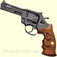 """Револьвер под патрон Флобера Alfa мод 441 4"""" рукоять №9 (вороненый, дерево)"""