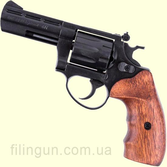 Револьвер під патрон Флобера ME 38 Magnum 4R (чорний, дерево)