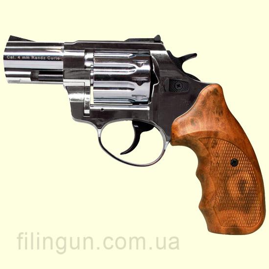 """Револьвер под патрон Флобера Meydan Stalker 2.5"""" никель wood"""