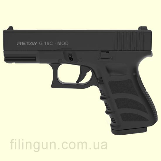 Пистолет стартовый Retay G 19C Black 14-зарядный - фото