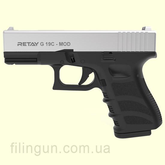 Пистолет стартовый Retay G 19C Chrome