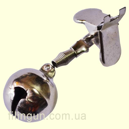Бубенчик для рыбалки прищепка метал №20