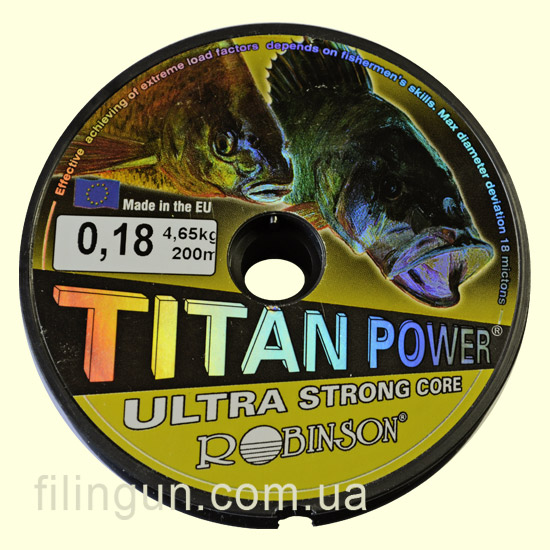 Ліска Robinson Titan Power Ultra Strong Core 0.18 mm 4.65 kg
