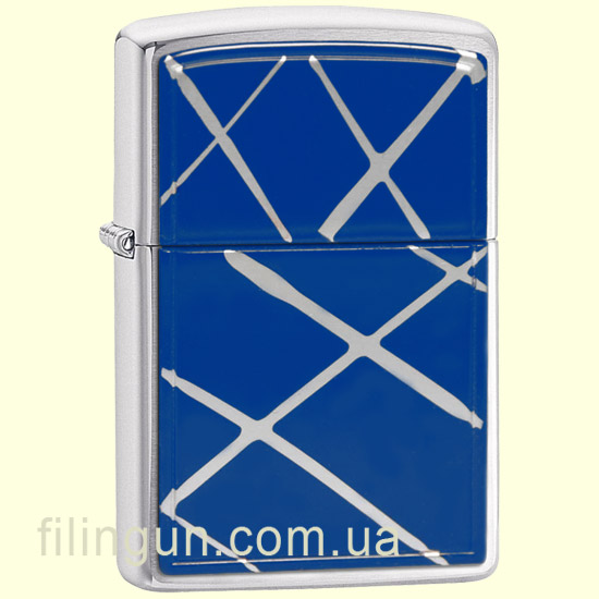 Зажигалка Zippo 20177 String Paint - Blue Brushed Chrome