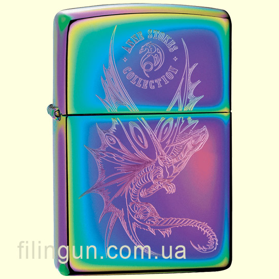 Запальничка Zippo 29586 ANNE STOKES Engraved Dragon - фото