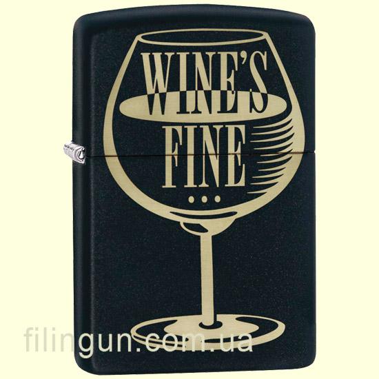 Зажигалка Zippo 29611 Wine's Fine