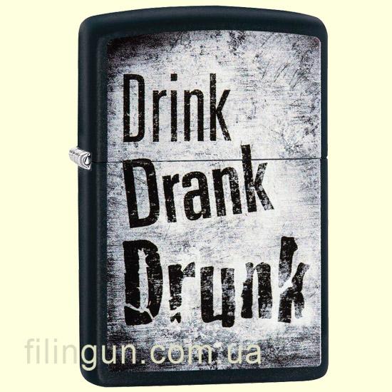 Зажигалка Zippo 29618 Drink Drank Drunk
