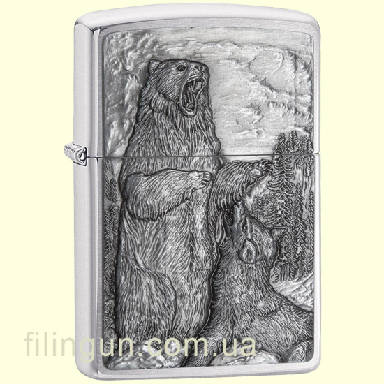 Запальничка Zippo 29636 Bear vs. Wolf - фото