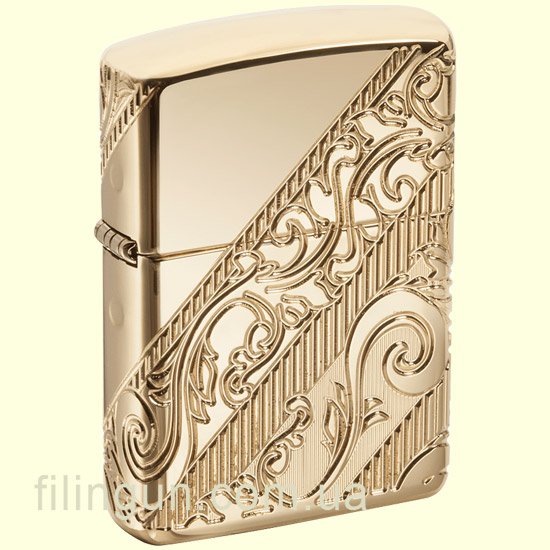 Запальничка Zippo 29653 Armor 2018 Collectible of The Year Golden Scroll - фото