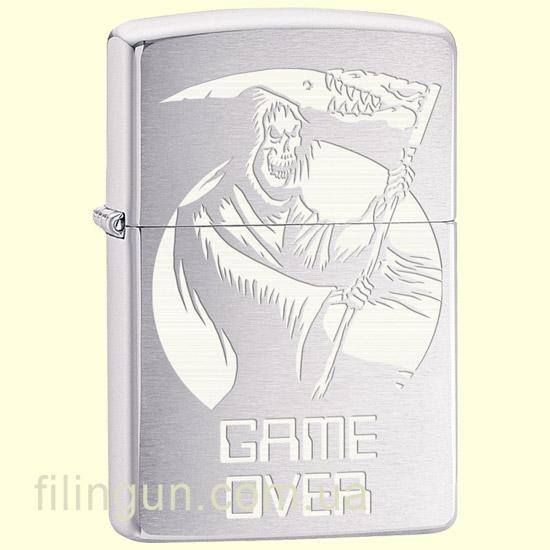 Зажигалка Zippo 29696 Skull Game Over Design