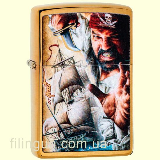 Зажигалка Zippo 29781 MAZZI Pirate Brushed Brass