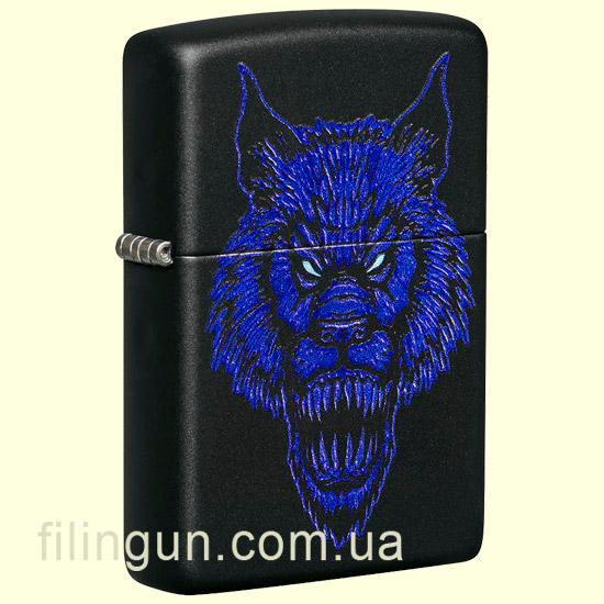 Зажигалка Zippo 49414 Werewolf Design Black Matte