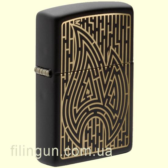 Зажигалка Zippo 49597 Maze Design Black Matte