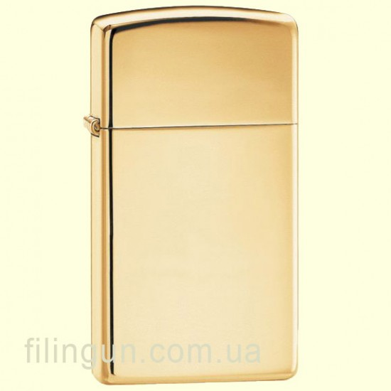 Зажигалка Zippo 1654 B Slim High Polish Brass