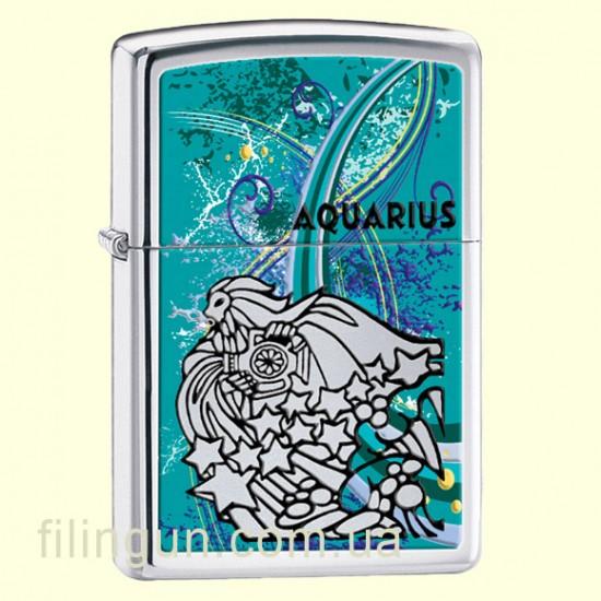 Зажигалка Zippo 24929 Zodiac Aquarius - фото