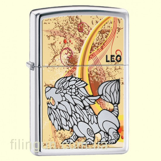 Зажигалка Zippo 24935 Zodiac Leo - фото
