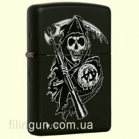Зажигалка Zippo 28504 Sons of Anarchy Grim Reaper