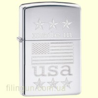 Зажигалка Zippo 29430 Made in USA with Flag