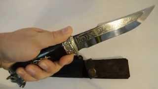 Нож охотничий Кабан голова (мельхиор)