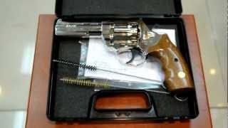 """Револьвер под патрон Флобера Alfa мод 441 4"""" (никель, дерево)"""