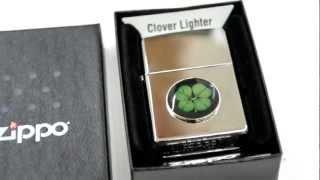 Зажигалка Zippo 24667 Four Leaf Clover - YouTube