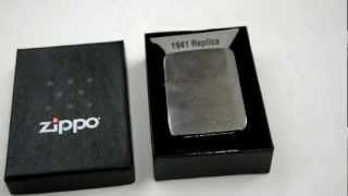 Зажигалка Zippo 1941 Replica Brushed Chrome