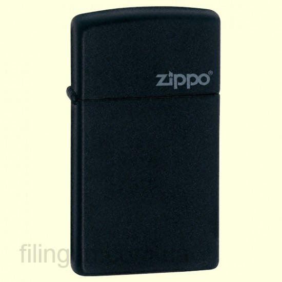 Зажигалка Zippo 1618 ZL Slim Black Matte