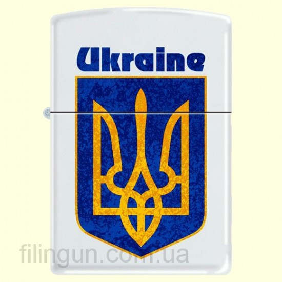 Зажигалка Zippo 214 UC Ukraine Coat of Arms 2
