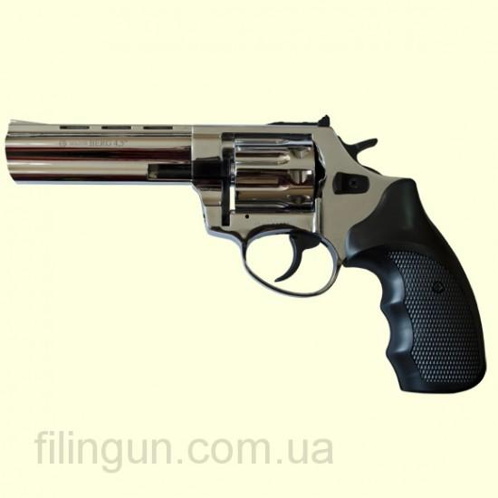 """Револьвер под патрон Флобера Ekol Major Berg 4,5"""" никель"""