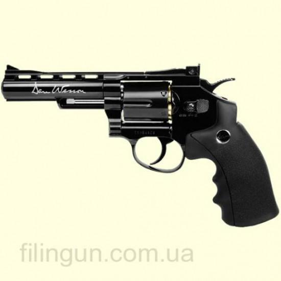 """Пневматический револьвер ASG Dan Wesson 4"""" Black"""
