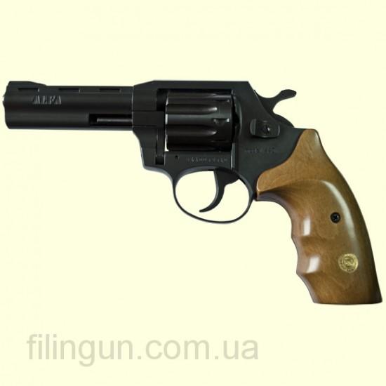 """Револьвер под патрон Флобера Alfa мод 440 4"""" (вороненный, дерево)"""