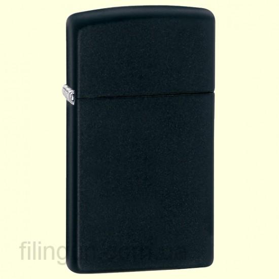 Зажигалка Zippo 1618 Slim Black Matte