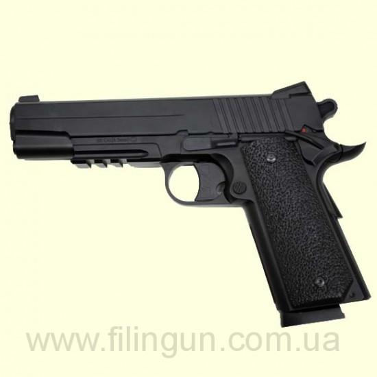 Пневматический пистолет KWC Colt 1911 KM 42 plastic slide
