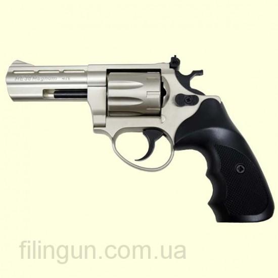Револьвер под патрон Флобера ME 38 Magnum 4R (никель, пластик)
