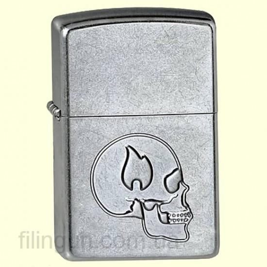 Зажигалка Zippo 24371 Skull with Flame