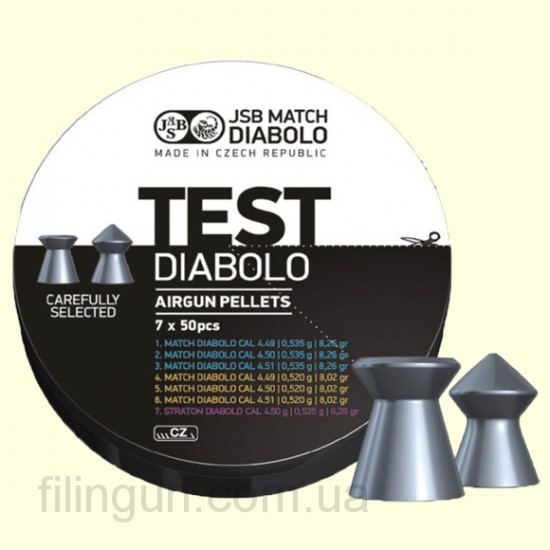 Пули для пневматических винтовок JSB Diabolo Match Test Middle Weight