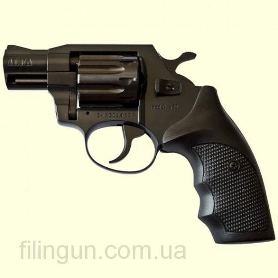 """Револьвер под патрон Флобера Alfa мод 420 2"""" (вороненный, пластик)"""