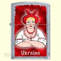 Зажигалка Zippo 207 UL/1 Ukrainian Lady