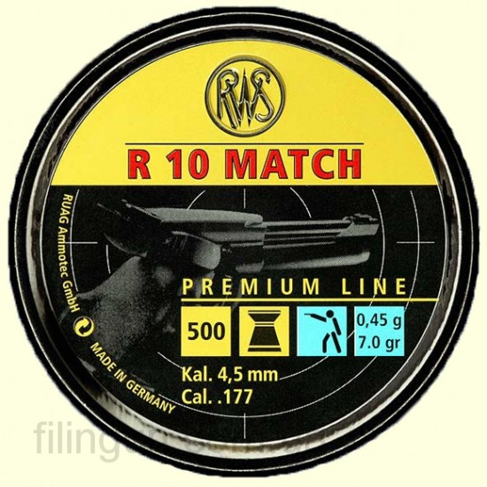 Пули для пневматического оружия RWS R 10 Match 4.49 (0.45 г)