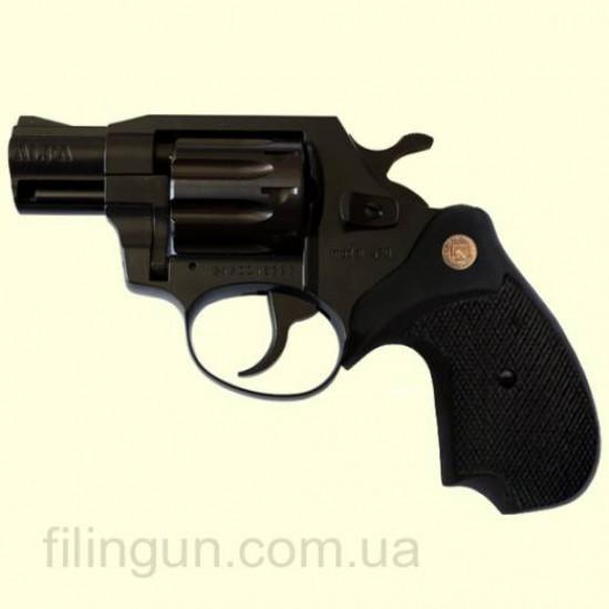 Револьвер под патрон Флобера Alfa мод 420 Compact (вороненный, пластик)