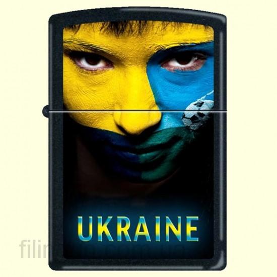 Зажигалка Zippo 218 US Ukraine Soccer Face