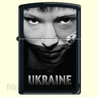 Запальничка Zippo 218 USS Ukraine Soccer Face Sepia