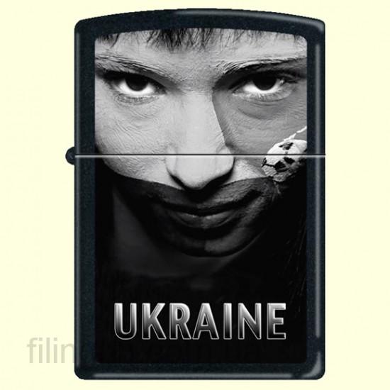 Зажигалка Zippo 218 USS Ukraine Soccer Face Sepia - фото