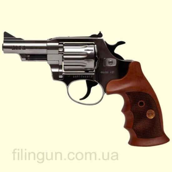 Револьвер під патрон Флобера Alfa мод 431 (нікель, дерево)